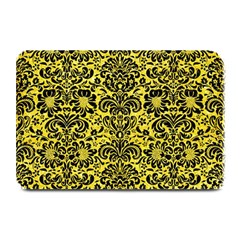 Damask2 Black Marble & Gold Glitter (r) Plate Mats by trendistuff
