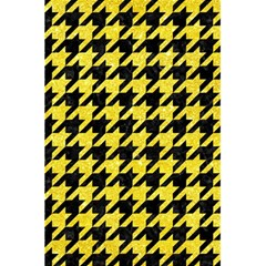 Houndstooth1 Black Marble & Gold Glitter 5 5  X 8 5  Notebooks by trendistuff