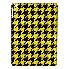 Houndstooth1 Black Marble & Gold Glitter Ipad Air Hardshell Cases by trendistuff