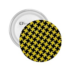 Houndstooth2 Black Marble & Gold Glitter 2 25  Buttons by trendistuff