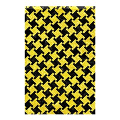 Houndstooth2 Black Marble & Gold Glitter Shower Curtain 48  X 72  (small)  by trendistuff