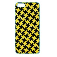 Houndstooth2 Black Marble & Gold Glitter Apple Seamless Iphone 5 Case (color) by trendistuff