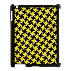 Houndstooth2 Black Marble & Gold Glitter Apple Ipad 3/4 Case (black) by trendistuff