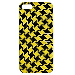 Houndstooth2 Black Marble & Gold Glitter Apple Iphone 5 Hardshell Case With Stand by trendistuff