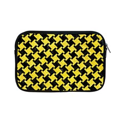 Houndstooth2 Black Marble & Gold Glitter Apple Ipad Mini Zipper Cases by trendistuff