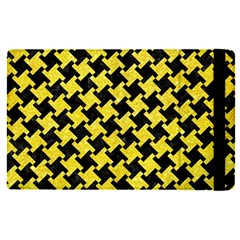 Houndstooth2 Black Marble & Gold Glitter Apple Ipad Pro 12 9   Flip Case by trendistuff