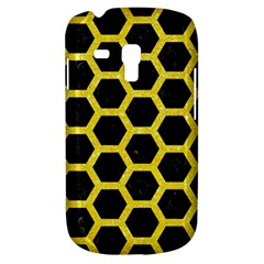 Hexagon2 Black Marble & Gold Glitter Galaxy S3 Mini by trendistuff