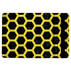 Hexagon2 Black Marble & Gold Glitter Ipad Air Flip by trendistuff