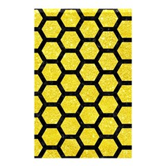 Hexagon2 Black Marble & Gold Glitter (r) Shower Curtain 48  X 72  (small)  by trendistuff