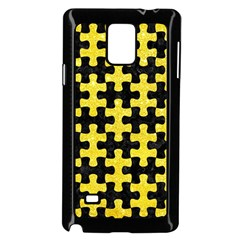 Puzzle1 Black Marble & Gold Glitter Samsung Galaxy Note 4 Case (black) by trendistuff