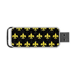 Royal1 Black Marble & Gold Glitter (r) Portable Usb Flash (two Sides) by trendistuff