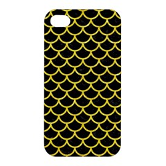 Scales1 Black Marble & Gold Glitter Apple Iphone 4/4s Hardshell Case by trendistuff