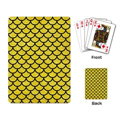 Scales1 Black Marble & Gold Glitter (r) Playing Card by trendistuff