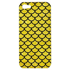 Scales1 Black Marble & Gold Glitter (r) Apple Iphone 5 Hardshell Case by trendistuff