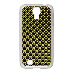 Scales2 Black Marble & Gold Glitterscales2 Black Marble & Gold Glitter Samsung Galaxy S4 I9500/ I9505 Case (white) by trendistuff
