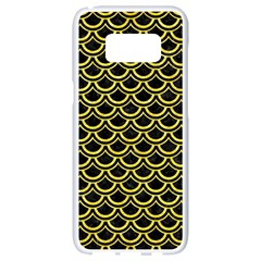 Scales2 Black Marble & Gold Glitterscales2 Black Marble & Gold Glitter Samsung Galaxy S8 White Seamless Case by trendistuff