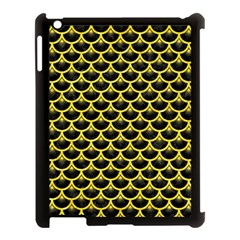 Scales3 Black Marble & Gold Glitter Apple Ipad 3/4 Case (black) by trendistuff