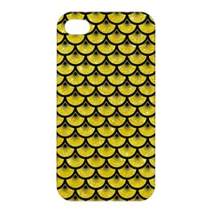 Scales3 Black Marble & Gold Glitter (r) Apple Iphone 4/4s Hardshell Case by trendistuff
