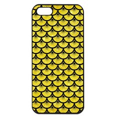 Scales3 Black Marble & Gold Glitter (r) Apple Iphone 5 Seamless Case (black) by trendistuff