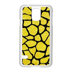 Skin1 Black Marble & Gold Glitter Samsung Galaxy S5 Case (white) by trendistuff