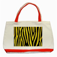 Skin4 Black Marble & Gold Glitter (r) Classic Tote Bag (red) by trendistuff