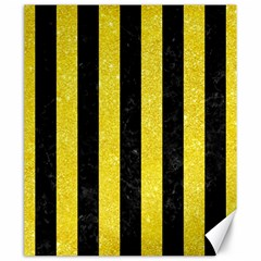 Stripes1 Black Marble & Gold Glitter Canvas 20  X 24   by trendistuff