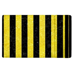 Stripes1 Black Marble & Gold Glitter Apple Ipad Pro 9 7   Flip Case