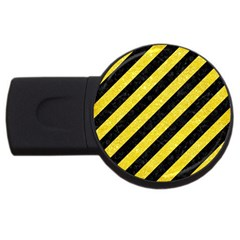 Stripes3 Black Marble & Gold Glitter Usb Flash Drive Round (4 Gb) by trendistuff