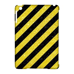 Stripes3 Black Marble & Gold Glitter Apple Ipad Mini Hardshell Case (compatible With Smart Cover) by trendistuff