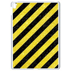Stripes3 Black Marble & Gold Glitter Apple Ipad Pro 9 7   White Seamless Case by trendistuff