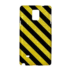 Stripes3 Black Marble & Gold Glitter (r) Samsung Galaxy Note 4 Hardshell Case by trendistuff