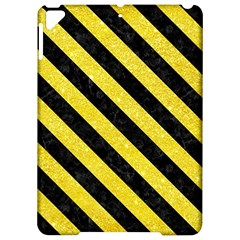Stripes3 Black Marble & Gold Glitter (r) Apple Ipad Pro 9 7   Hardshell Case by trendistuff