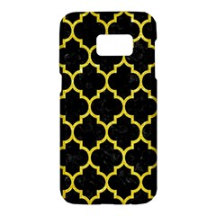Tile1 Black Marble & Gold Glitter Samsung Galaxy S7 Hardshell Case  by trendistuff