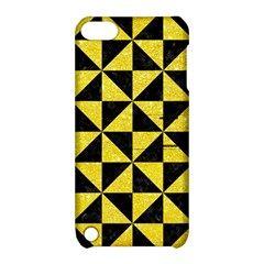 Triangle1 Black Marble & Gold Glitter Apple Ipod Touch 5 Hardshell Case With Stand by trendistuff
