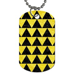 Triangle2 Black Marble & Gold Glitter Dog Tag (two Sides) by trendistuff