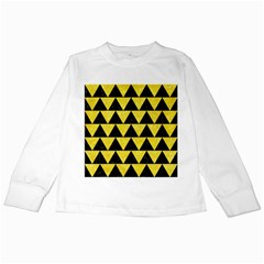 Triangle2 Black Marble & Gold Glitter Kids Long Sleeve T Shirts by trendistuff