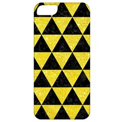 Triangle3 Black Marble & Gold Glitter Apple Iphone 5 Classic Hardshell Case by trendistuff
