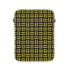 Woven1 Black Marble & Gold Glitter Apple Ipad 2/3/4 Protective Soft Cases by trendistuff