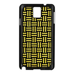 Woven1 Black Marble & Gold Glitter Samsung Galaxy Note 3 N9005 Case (black) by trendistuff