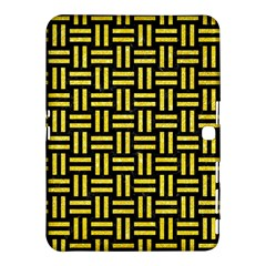 Woven1 Black Marble & Gold Glitter Samsung Galaxy Tab 4 (10 1 ) Hardshell Case  by trendistuff