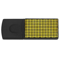 Woven1 Black Marble & Gold Glitter (r) Rectangular Usb Flash Drive by trendistuff
