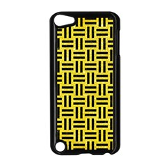 Woven1 Black Marble & Gold Glitter (r) Apple Ipod Touch 5 Case (black) by trendistuff