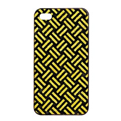 Woven2 Black Marble & Gold Glitter Apple Iphone 4/4s Seamless Case (black) by trendistuff