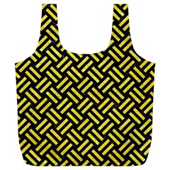 Woven2 Black Marble & Gold Glitter Full Print Recycle Bags (l)  by trendistuff