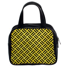 Woven2 Black Marble & Gold Glitter (r) Classic Handbags (2 Sides) by trendistuff