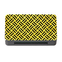 Woven2 Black Marble & Gold Glitter (r) Memory Card Reader With Cf by trendistuff