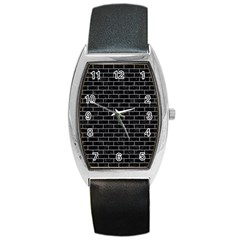 Brick1 Black Marble & Gray Colored Pencil Barrel Style Metal Watch by trendistuff