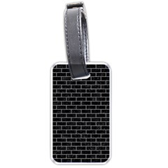 Brick1 Black Marble & Gray Colored Pencil Luggage Tags (two Sides) by trendistuff