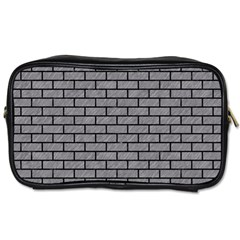 Brick1 Black Marble & Gray Colored Pencil (r) Toiletries Bags by trendistuff