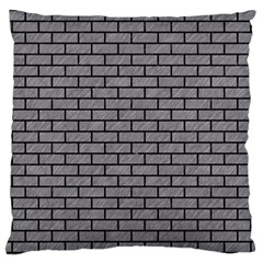 Brick1 Black Marble & Gray Colored Pencil (r) Large Cushion Case (two Sides) by trendistuff